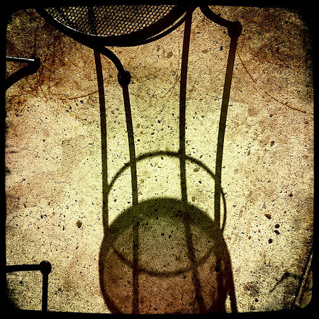 312|Chair, Shadow, Cirlcles, and Lines